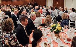 Members of the Augustus Juilliard Society enjoying lunch.